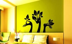 Wall Vinyl Decal Sticker hands Tree with Leaves by VinylDecals2U
