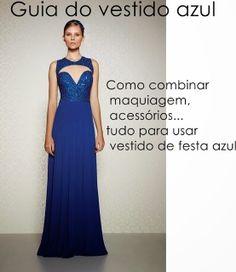 Madrinhas de casamento: Guia do vestido de festa azul: combinações