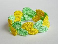 Vibrant Coloured Crocheted Bracelet