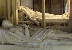 Chapelle Royale de Dreux - Tombs of Ferdinand-Philippe, Duke of Orleans (1810-42), the eldest son of King Louis-Phillippe, and Duchess, Hélène de Mecklembourg-Schwerin (1814-58). He died in a carriage accident in 1842. As his wife was a Protestant, she was not allowed to be buried in the Catholic chapel. Her tomb was placed in a separate little chapel, accessed by an outside door.