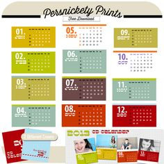 Persnickety Prints Blog: FREE 2013 CD Calendar