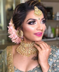 New Indian Wedding Hairstyles Updo Engagement Rings Bridal Hairstyle Indian Wedding, Bridal Bun, Bridal Hairdo, Hairdo Wedding, Indian Wedding Hairstyles, Bride Hairstyles, Hairstyles Pictures, Wedding Bride, Bridal Makeup Looks