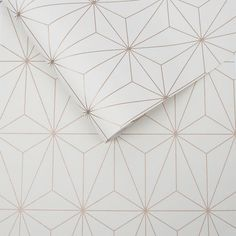 Prism by Graham & Brown - White / Rose Gold - Wallpaper : Wallpaper Direct Gold Wallpaper Living Room, White And Gold Wallpaper, Brown Wallpaper, Wallpaper Roll, Pattern Wallpaper, Glitter Wallpaper, Iphone Wallpaper, Wallpaper Toilet, Wallpaper Decor