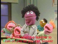 Raise Your Hand (Sesame Street) - with lyrics