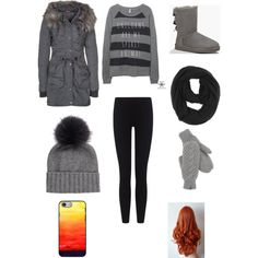 Untitled #36 by veggieranch on Polyvore featuring polyvore, fashion, style, DreiMaster, James Perse, UGG Australia, Inverni, Paula Bianco and The North Face