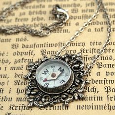 Compass necklace! I need one of these.