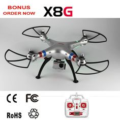 #Syma #X8G #Drone with 8 MP HD Camera GoPro Applicable Headless Big rc copter hobby grade RC Quadcopter   About 7 minutes flight time with GoPro Style camera, enjoy more to explore in the sky and take videos or photos  Built in more powerful motors for easier flight in windy date outdoor.  Headless function, easy to pilot to longer distance and avoid being lost.  Specifications of built-in camera:  1080P 30fps Photo:3264*2448 (8 MP) / Video:1920*1080 (2 MP)