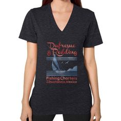 Dufresne and Redding V-Neck (on woman)