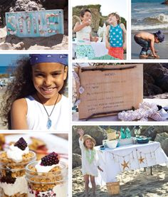 """""""Summer Solstice Beach Party"""" from Naturally Fun Parties for Kids Creating Handmade, Earth-Friendly Celebrations for All Seasons and Occasions by Anni Daulter with Heather Fontenot Photographs by Tnah & Mario Di Donato rsvp.com - Sellers Publishing Inc."""