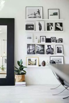 Photo ledge styling inspiration: photos, books, objects... Looking for one of a kind art photo prints to curate your art wall? Visit bx3foto.etsy.com