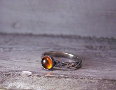 Sterling and Baltic Amber Ring Made to order in your by MoodiChic, $42.00