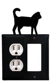 Cat - Single Outlet and GFI Cover by Village Wrought Iron. $14.21. Cat - Single Outlet and GFI CoverApprox. 4 5/8 In. W x 8 In. H Please allow 4 to 6 weeks for delivery.
