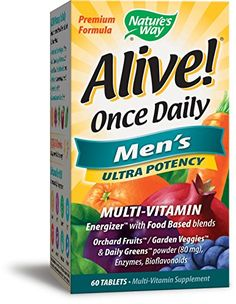 Natures Way Alive Once Daily Mens Ultra Potency60 tablets -- You can find more details by visiting the image link.