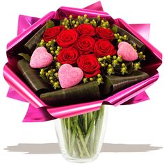 Valentino Luxury Hand-tied bouquet of Valentine's Day flowers www.eden4flowers.co.uk