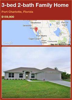 3-bed 2-bath Family Home in Port Charlotte, Florida ►$159,900 #PropertyForSale #RealEstate #Florida http://florida-magic.com/properties/79145-family-home-for-sale-in-port-charlotte-florida-with-3-bedroom-2-bathroom