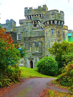 Wray Castle in Cumbria. Beatrix Potter spent a summer holiday there when she was 16, in 1882.