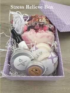 Stress Relieve Box for Body, Face, Hair and Mind Soap For Oily Skin, Soap For Sensitive Skin, Vegan Deodorant, Natural Deodorant, Organic Body Wash, Organic Skin Care, Hyaluronic Acid Cream, Coconut Soap, Solid Shampoo
