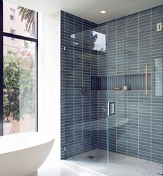 Home Remodel Garage 2019 The post 2019 appeared first on Bathroom Diy.Home Remodel Garage 2019 The post 2019 appeared first on Bathroom Diy. Modern Bathroom Tile, Bathroom Renos, Bathroom Interior Design, Master Bathroom, Blue Bathroom Tiles, Ceramic Tile Bathrooms, Blue Tiles, White Bathroom, Bathroom Storage
