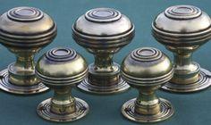 Antique Brass Door Knobs Bloxwich Georgian medium and large. For rim locks or mortise locks.  https://www.priorsrec.co.uk/brass-door-knobs-bloxwich-georgian/p-3-22-23-55