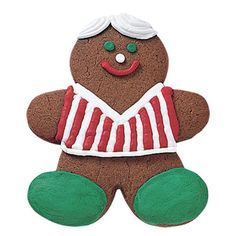 Jolly Gingerbread Boy Cookie - Gingerbread boy cookies are a happy holiday tradition. Our Jolly Gingerbread Boy Cookie adds a twist of Christmas color with a bright holiday get-up!