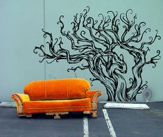 Drift Wood Inspired Very Large Tree Decal - Vinyl wall art decals stickers by 3rdaveshore
