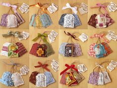 Lavender Sachet Tea Bags...could be matching sents for sensorial work
