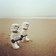 Morning beach hike #hike #hiking #morning #beach #sea #ocean #ameland #island #sand #relax #fun #nature #healthy #starwars #starwarslego #starwarslegos #legostarwars #lego #stormtrooper #stormtrooperslife #iphonography #365project #day81