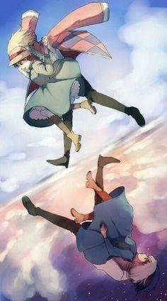 Howl's Moving Castle (ハウルの動く城) Studio Ghibli (Hayao Miyazaki) Anime Movie Book Hayao Miyazaki, Howl's Moving Castle, Totoro, Studio Ghibli Art, Studio Ghibli Movies, Film Animation Japonais, Art Of Animation, Howl And Sophie, Chihiro Y Haku