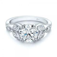 Custom Marquise Diamond Engagement Ring Platinum Ring 6 Diamonds - .48 ctw Clarity: VS2 - Color: F-G
