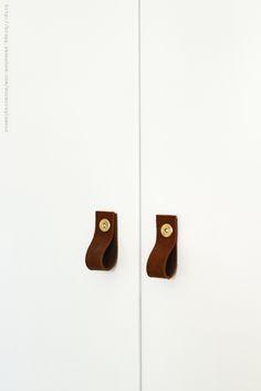 DIY leather handles