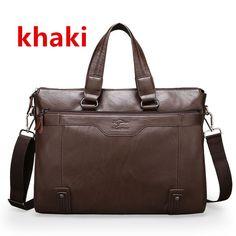 Men Casual Briefcase Business Shoulder Leather Messenger Bags Computer Laptop Handbag Men's Travel Bags