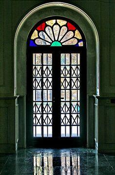 A door in one of Tehran's  museums