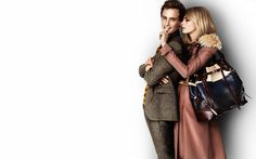 Cara Delevingne & Eddie Redmayne By Mario Testino For Burberry S/S 2012