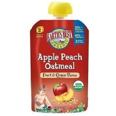Earth's Best Baby Foods Apl/Pch/Oatmeal (12x4.2OZ )
