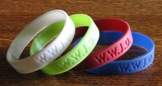 "WWJD ""What Would Jesus Do"" Wristbands/Bracelets Youth, Primary, Church, Jesus, Jewelry"