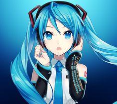 Hatsune Miku I Vocaloid Anime Girls, Kawaii Anime Girl, Anime Art Girl, Manga Girl, Vocaloid, Manga Anime, Anime Triste, Popular Anime, Manga Illustration