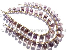 Gemstone Beads, Ametrine Smooth Drops (Quality B) / 5x7 to 6.5x12 mm / 18 cm / AMETRI-007 by beadsogemstone on Etsy #ametrinebeads #gemstonebeads #semipreciousstones #semipreciousbeads #briolettes #jewelrymaking #craftsupplies #stones #beads