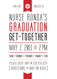 Graduation Invitation by Amy Heimbuch, via Behance