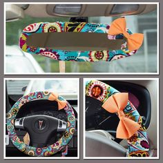Funky Paisley Set Steering Wheel Cover and by FireflyCreations42, $30.00