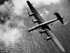 Final journey: The B-24 Liberator had set off from Cairo to Britain and was unarmed, but confusion over the flight meant a Spitfire fighter squadron had not been told it was expected