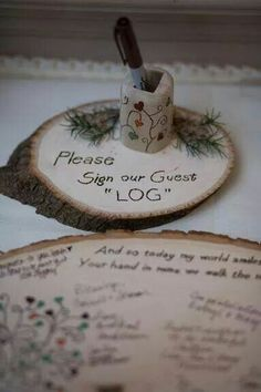 Adorable alternative to a guest book