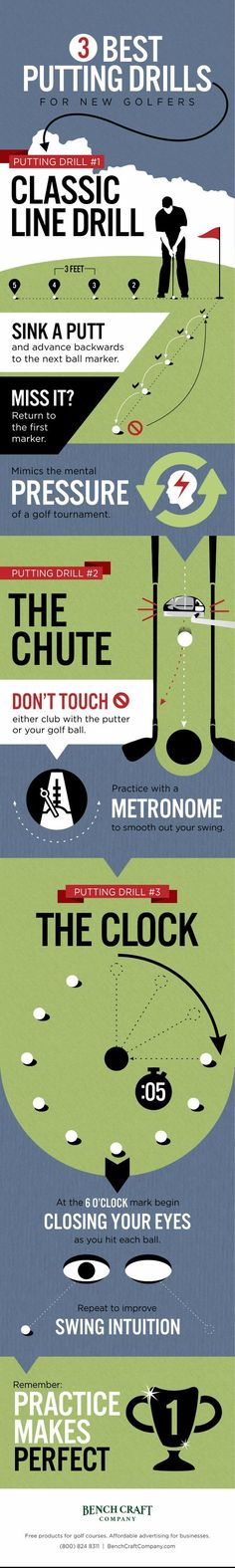The 3 BEST putting drills for new golfers!  More at #lorisgolfshoppe