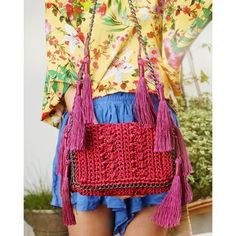 Bolsa Mira Tropical •cereja• CM515 - Catarina Mina