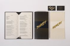 Menu design for Melbourne bar and restaurant The Town Mouse designed by A Friend Of Mine
