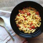 Cheese, Garlic & Tomato Pasta Bake