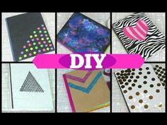 DIY | 5 Formas para Forrar y decorar tus Cuadernos!! + Blooper | FÁCIL | PumitaNegraArt  - YouTube
