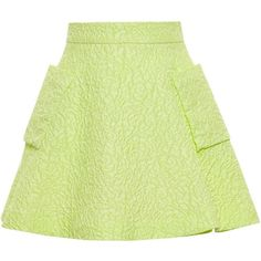 Natasha Zinko jacquard mini skirt (9,410 MXN) ❤ liked on Polyvore