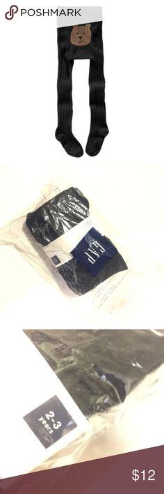 New Gap Tights Black cable knit bear bum tights 2-3 years #tights #bearbum #nwt GAP Accessories Socks & Tights