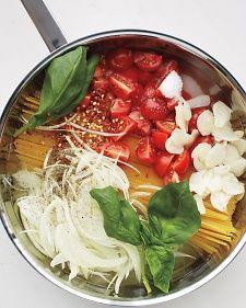 One-Pan Pasta, Recipe from Martha Stewart Living, June 2013