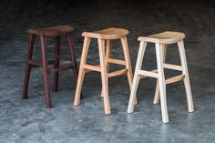 River Arts District bar stools in walnut, cherry and maple